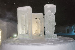 Sculpture in the Ice Hotel Stock Photography