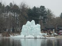 Sculpture of ice in Nami Island royalty free stock images