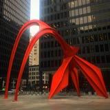 Sculpture iconique en Chicago Images stock