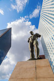 Sculpture of Igor Mitoraj in La Defense, Paris, France Royalty Free Stock Photo