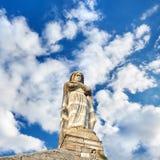 sculpture Igreja de Saint Laurent em Barjac foto de stock
