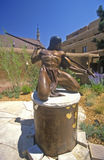 Sculpture of Indian Brave at Inn of Loretto in Santa Fe, NM Stock Photography