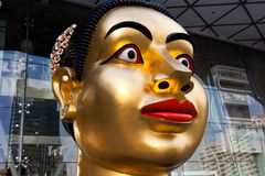 Sculpture of Indian woman`s head Stock Images