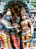 Sculpture indienne en temple Images libres de droits