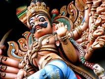 Sculpture indienne en temple Photographie stock