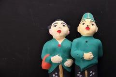 Sculpture indonésienne traditionnelle en mariage Photos stock
