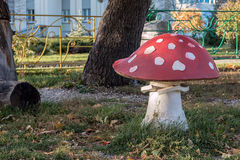 Sculpture of an inedible mushroom fly agaric Royalty Free Stock Photo