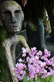 Sculpture inside the Cloud Forest in  Garden by the Bay, Singapo Royalty Free Stock Image