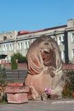 Sculpture intéressante au centre de Stepanakert Photos stock