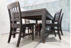 Sculpture intérieure de large Art Museum contemporain Photographie stock