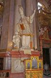 Sculpture in the interior in St. Vitus Cathedral Stock Image
