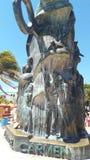 Iron sculpture Playa del Carmen Quintana Roo royalty free stock photography