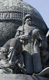 The sculpture of Ivan III on the monument `Millennium of Russia` 1862. Veliky Novgorod Royalty Free Stock Photos