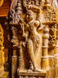 Sculpture in Jain Temple Stock Images