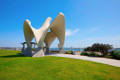 A sculpture by James Hubbell at Shelter Island stock photo