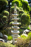 Sculpture in japanese garden Royalty Free Stock Images