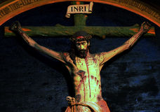 An sculpture of Jesus Christ inside Valongo Church Royalty Free Stock Photo
