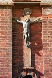 Sculpture of the Jesus on the St. Anne's Church in Vilnius, Lith Stock Photography