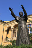Sculpture of John Paul II Stock Images