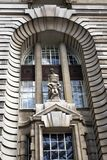 The sculpture of the Jubilee Gardens facade of Old County Hall in London, England Stock Images