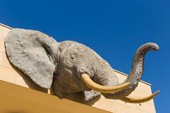Sculpture of jungle animals. Head of Elephant stock photography