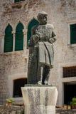 Sculpture of Juraj Dalmatinac in Sibenik royalty free stock images