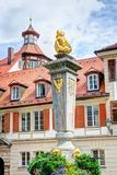 Sculpture of the Karl-Wilhelm-Friedrich-Brunnen in Ansbach Stock Photos