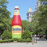 A Sculpture of Ketchup Bottle Stock Images