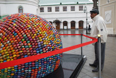 Sculpture in Kiev, which consists of 3000 eggs. Stock Images