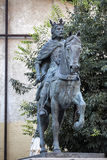 Sculpture of King Alfonso VIII in the Old Town of the city, work Royalty Free Stock Photography