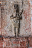 Sculpture of king in bathing attire. Virupaksha temple, Hampi, India Royalty Free Stock Image