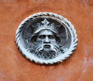 Sculpture of a king, Venice, Italy Royalty Free Stock Images