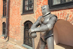 Sculpture of knight Stock Images