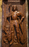 Sculpture of a Knight in the Cathedral of Trento Royalty Free Stock Photo