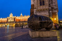 Sculpture in Krakow, Poland Royalty Free Stock Photos