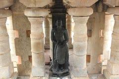 Sculpture of Kushmandhini Devi Goddess on Vindhyagiri at Shravanabelagola. Shravanabelagola is one of the most important pilgrimage destinations of Jainism Royalty Free Stock Photo