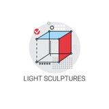 Sculpture légère Art Icon moderne Photographie stock libre de droits