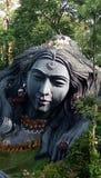Sculpture. Of a lady in Belur Halebidu Stock Image