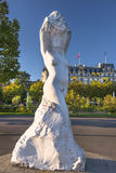 Sculpture Lady of the Lake, Lausanne, Switzerland Stock Photo