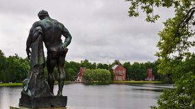 Sculpture on the lake in Tsarskoye Selo. Pushkin Royalty Free Stock Image