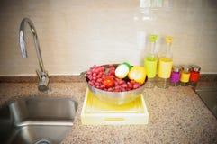Sculpture landscape of fruit Stock Photos