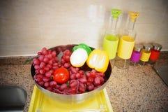 Sculpture landscape of fruit Stock Photography