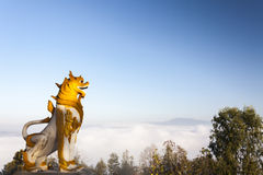 Sculpture in the Landscape of Wat Phra That Doi Kong Mu Royalty Free Stock Images
