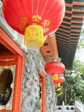 Details of a vietnamese pagoda. Sculpture and lantern close up of a traditional vietnamese buddhist pagoda Stock Images