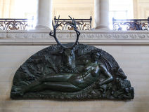 The sculpture in Le louvre museum ,paris,france Royalty Free Stock Photography