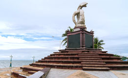 Sculpture at laem-taen promontory in thailand Royalty Free Stock Image