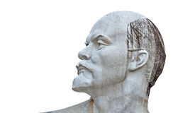 Sculpture of Lenin isolated on white Stock Images