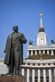 Sculpture of Lenin on the VDNH, Moscow Royalty Free Stock Photography