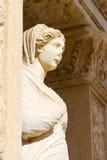 Sculpture in Library of Celsus. Ephesus, Turkey Stock Images