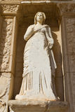 Sculpture in Library of Celsus Royalty Free Stock Images